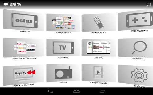 Capture d'écran SFR TV Windows Phone