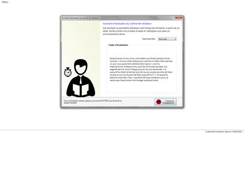Capture d'écran SpeechTrainning 8.7.1