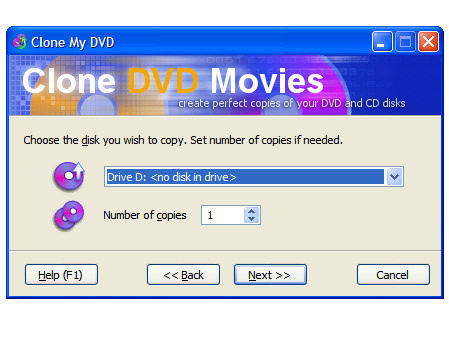 Capture d'écran Clone DVD Movies
