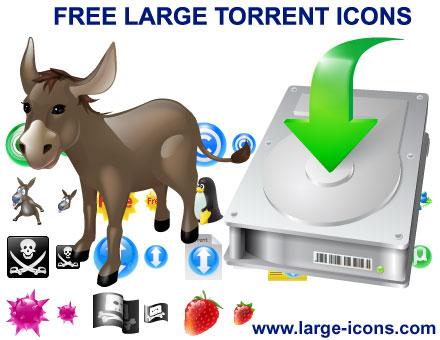 Capture d'écran Free Large Torrent Icons