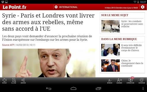 Capture d'écran Le Point.fr