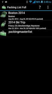 Capture d'écran Packing List – Full
