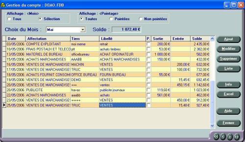 Capture d'écran Comptabilité pour Micro Entreprises