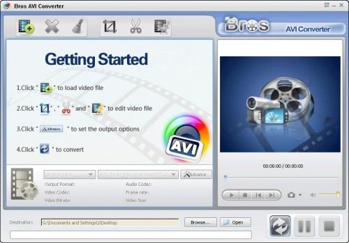 Capture d'écran Bros AVI Converter