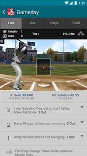 Capture d'écran MiLB First Pitch