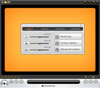 Capture d'écran GOM Media Player