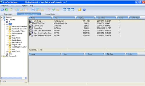 Capture d'écran IconCool Manager