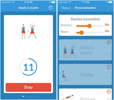 Capture d'écran 7 Minutes Workout iOS
