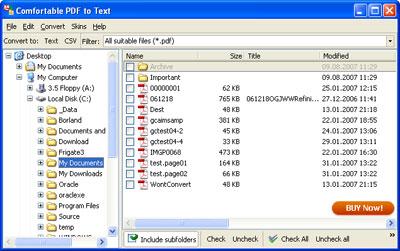 Capture d'écran Comfortable PDF to Text