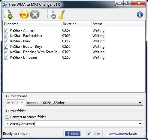 Capture d'écran Free WMA to MP3 Changer