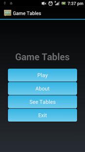 Capture d'écran Multiplication Game