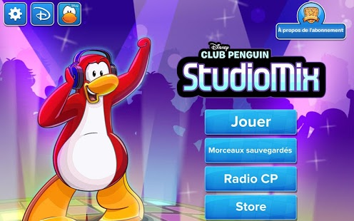 Capture d'écran StudioMix de Club Penguin