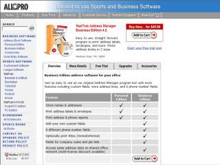 Capture d'écran StatTrak Address Manager Business Edition