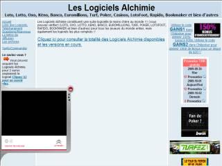 Capture d'écran BOOKMAKER Alchimie