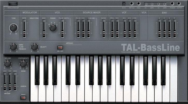 Capture d'écran TAL-BassLine