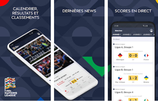 Capture d'écran UEFA Nations League Android