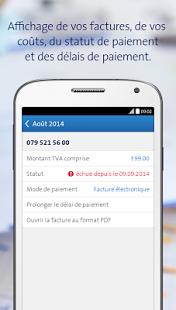 Capture d'écran My Swisscom