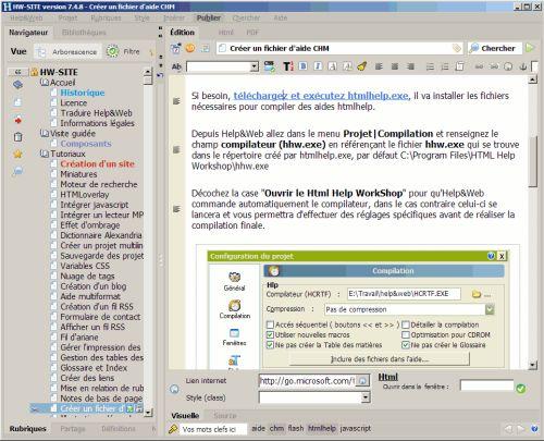 Capture d'écran Help&Web