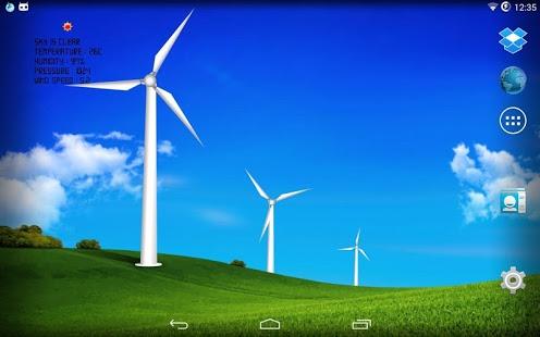 Capture d'écran Wind turbines – meteo station