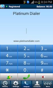 Capture d'écran Platinum Dialer