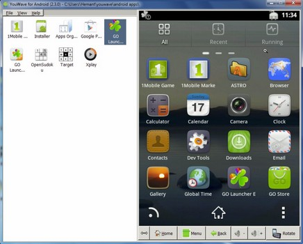 Capture d'écran YouWave
