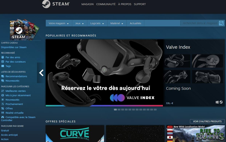Capture d'écran Steam Mac