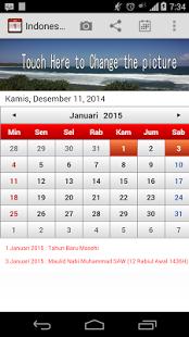 Capture d'écran Indonesia Calendar