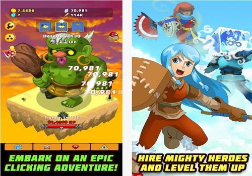 Capture d'écran Clicker Heroes Android