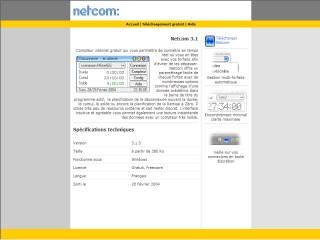 Capture d'écran Netcom