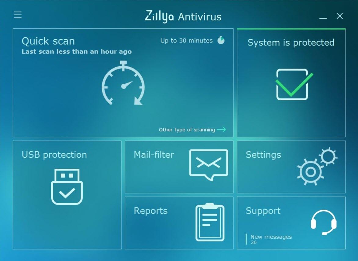 Capture d'écran Zillya! Antivirus