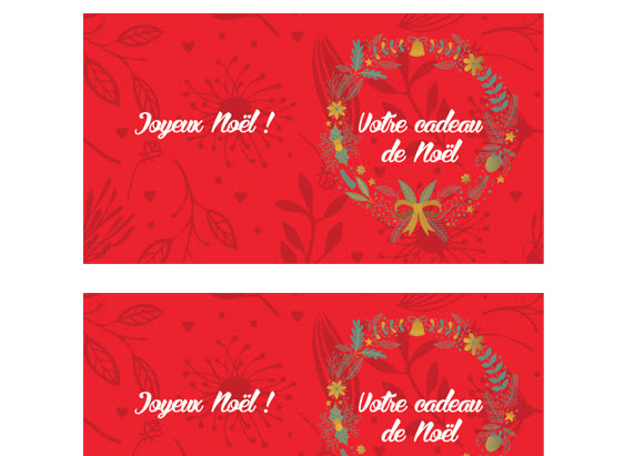 Capture d'écran Noël – Carte cadeau imprimable