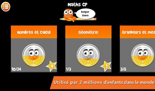 Capture d'écran ITooch Mathématiques CP