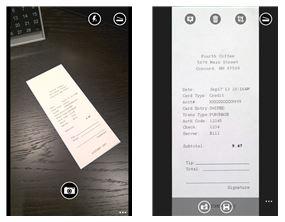 Capture d'écran Office Lens Windows Phone