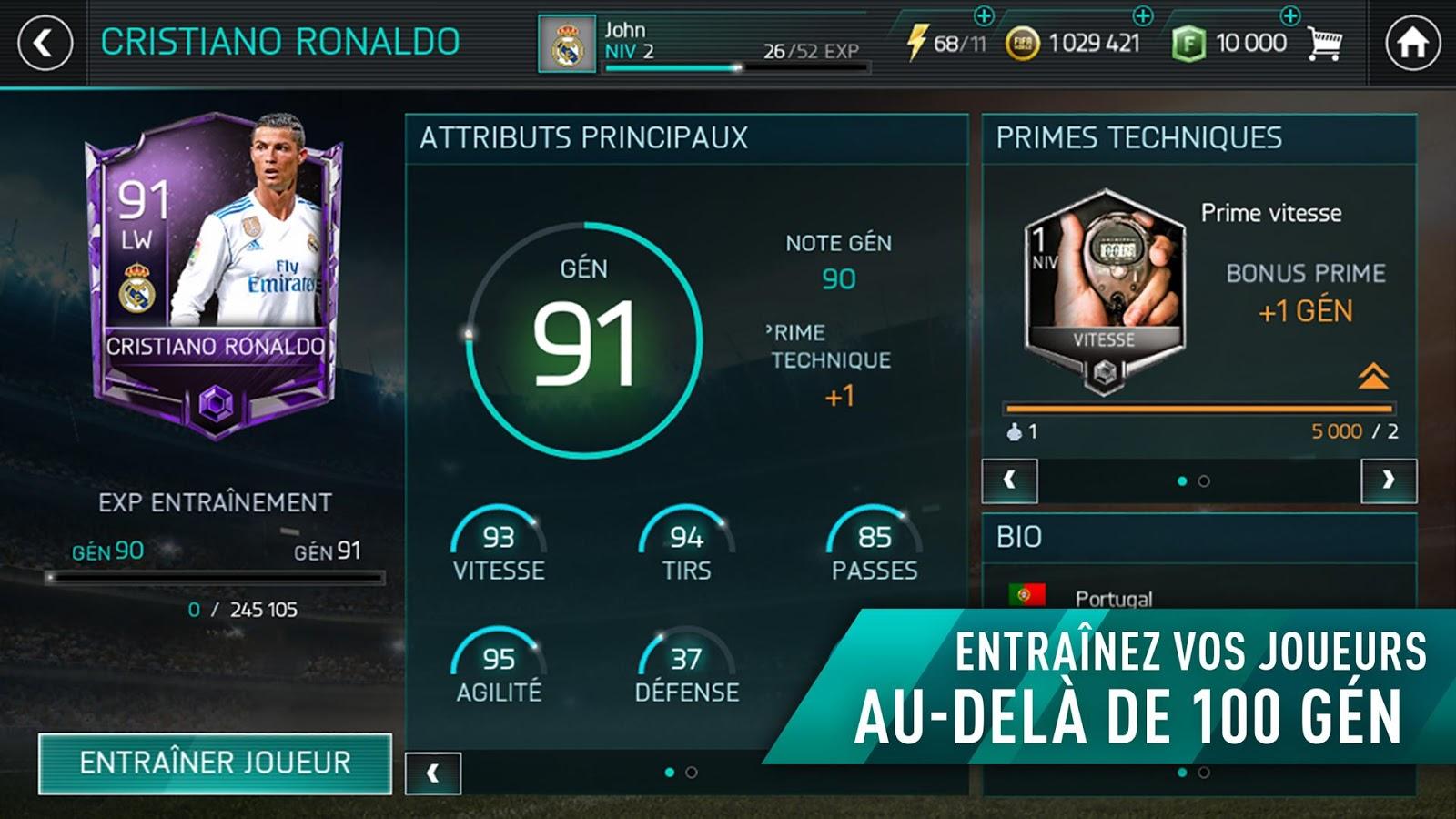 Capture d'écran FIFA 18 Mobile iOS