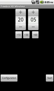 Capture d'écran Freebox HD Minuteur