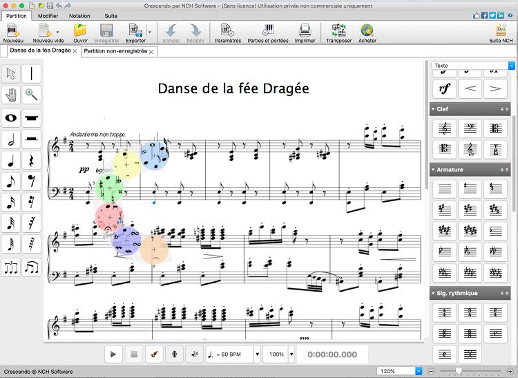 Capture d'écran Crescendo – Notation musicale pour Mac