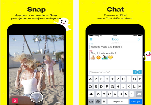 Capture d'écran Snapchat iOS