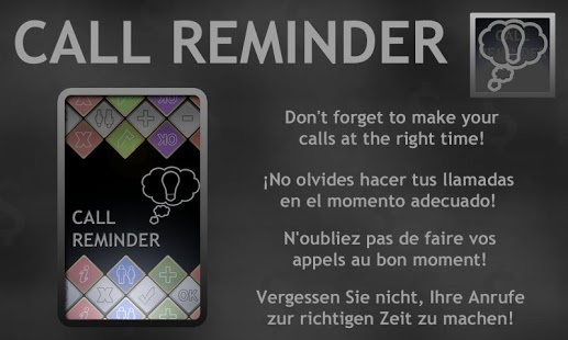 Capture d'écran Call Reminder Lite (Rappel ap)