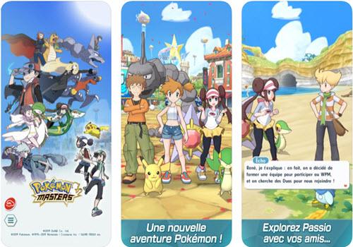 Capture d'écran Pokémon Masters iOS