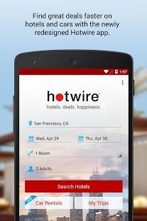 Capture d'écran Hotwire Hotels