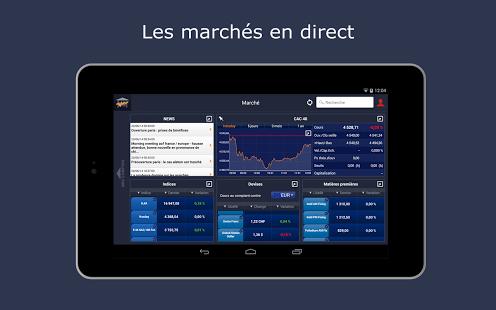 Capture d'écran Bourse Direct