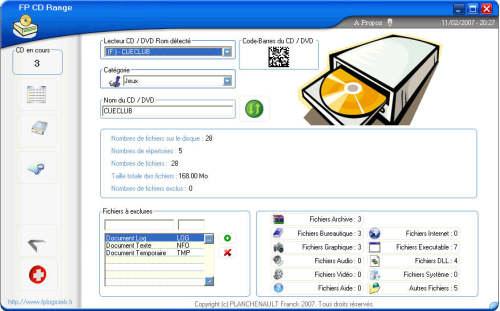Capture d'écran FP CDRange