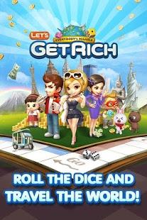 Capture d'écran LINE Let's Get Rich