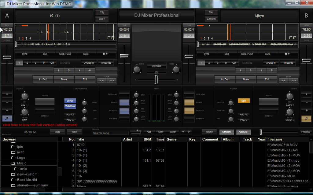 Capture d'écran DJ Mixer Pro for Windows 3.6.8