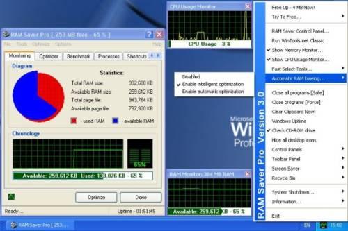 Capture d'écran RAM Saver Pro