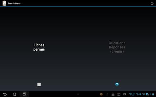 Capture d'écran Révision Permis Moto