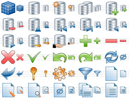 Capture d'écran Database Toolbar Icons