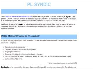 Capture d'écran PL-syndic