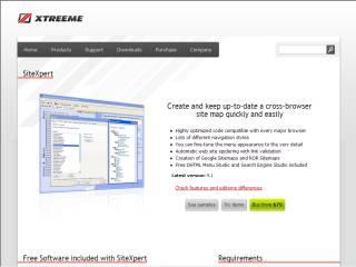 Capture d'écran SiteXpert