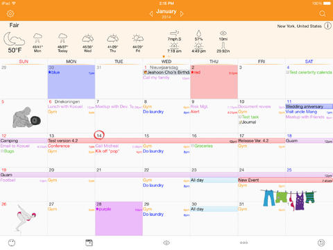 Capture d'écran Awesome Calendar Lite iOS